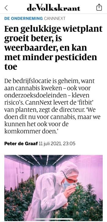 Artikel Volkskrant over CannNext