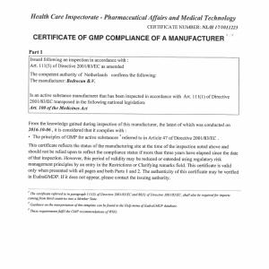 Certificación BPF