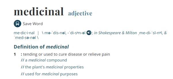 Medicinal cannabis or medical marijuana